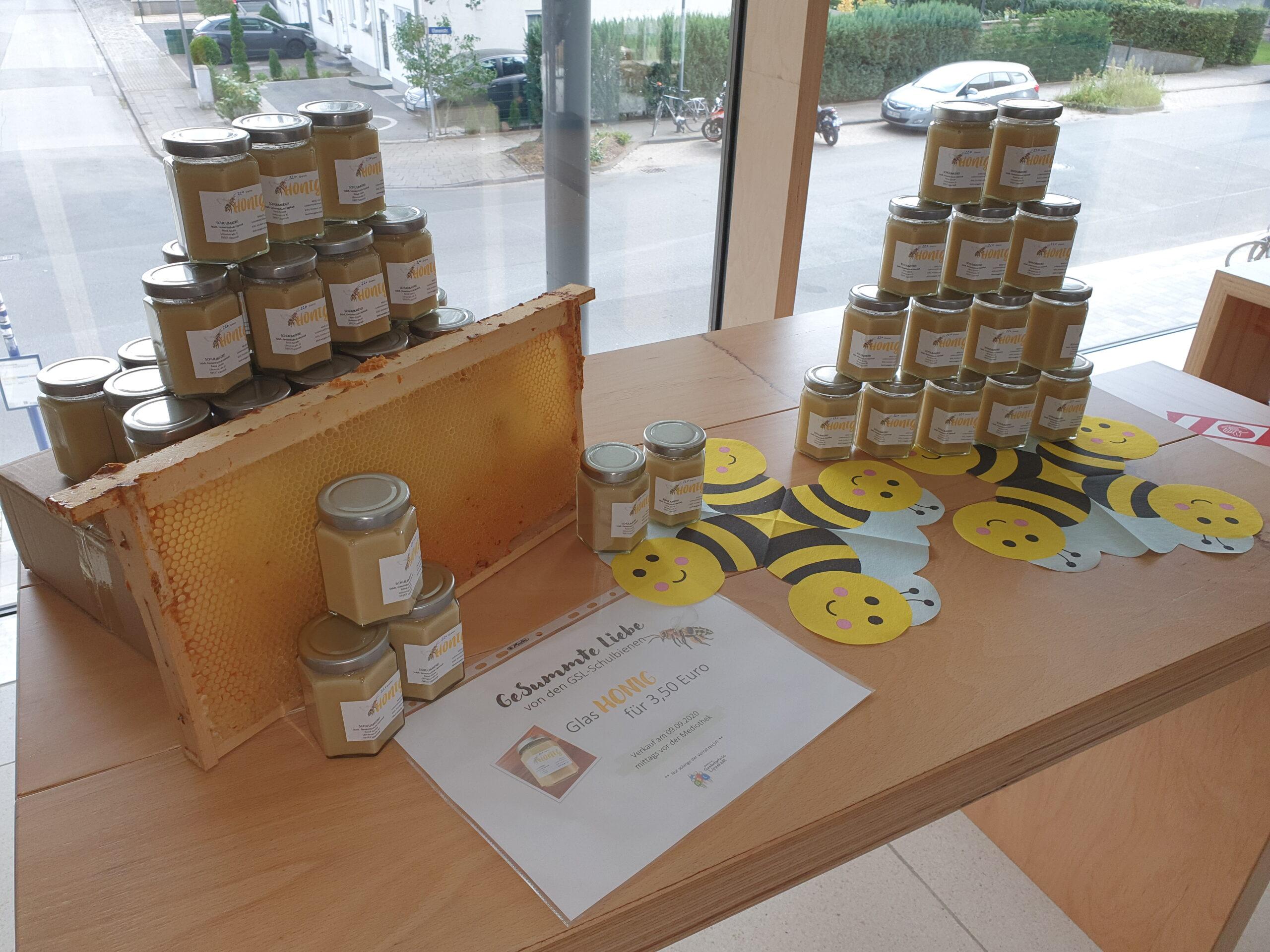 Erster Honig der Schulbienen verkauft