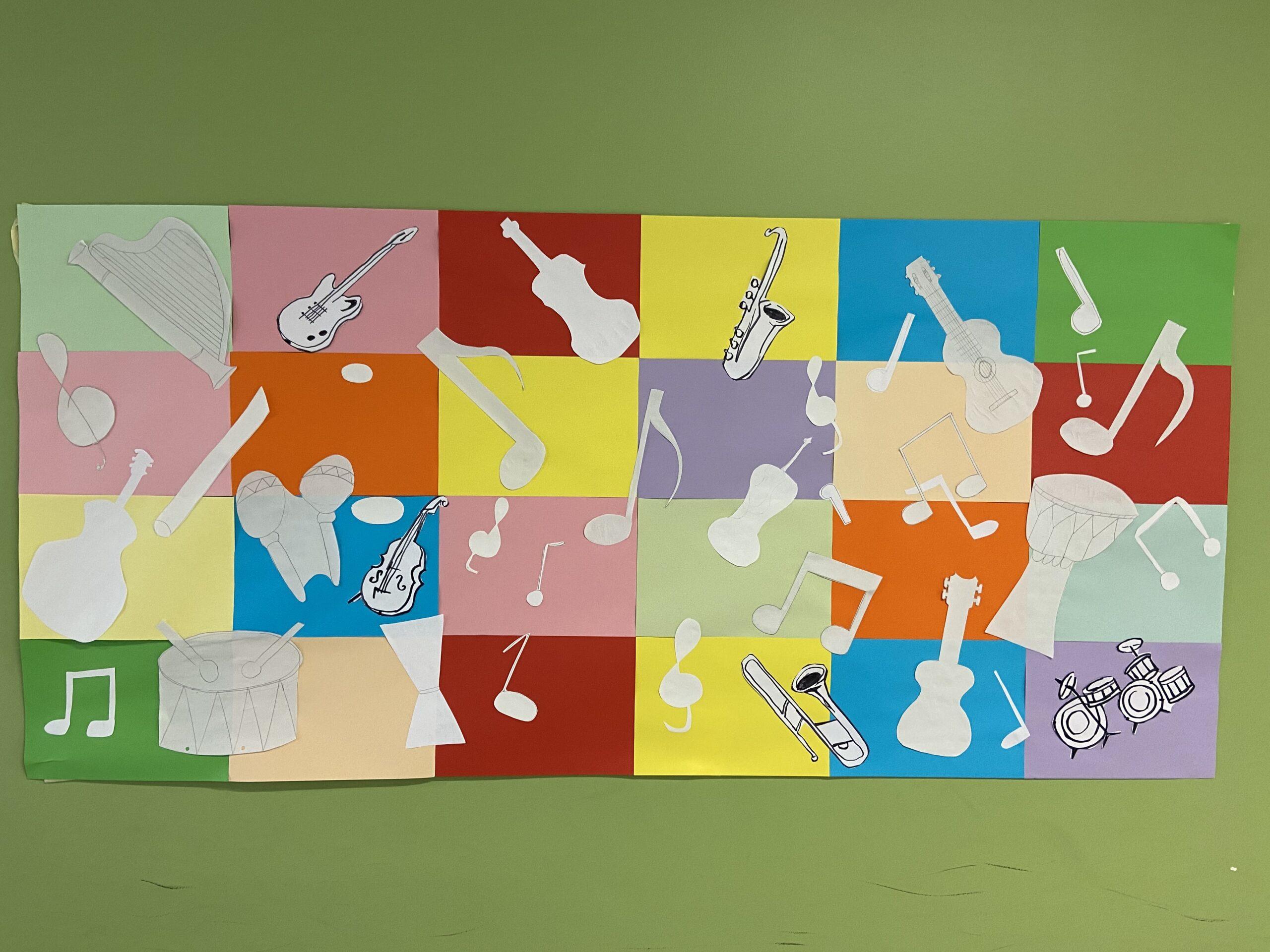 Im Homeschooling entsteht ein Wandbild nach Matisse